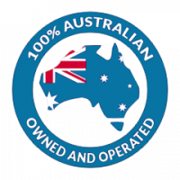 100% Australian own and operated logo